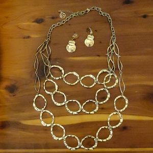 Necklace and matching earrings
